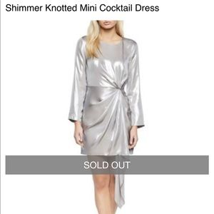 NWT Bardot Silver Shimmer Dress